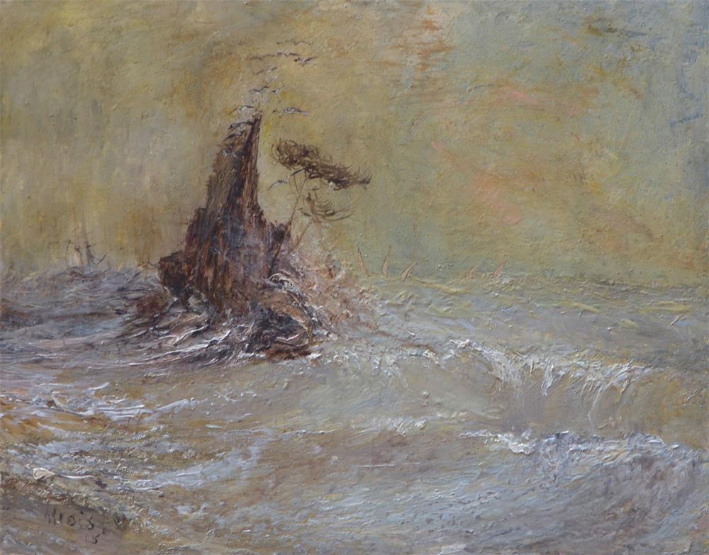 """Disappearances 16"" original fine art by Helen Allois"