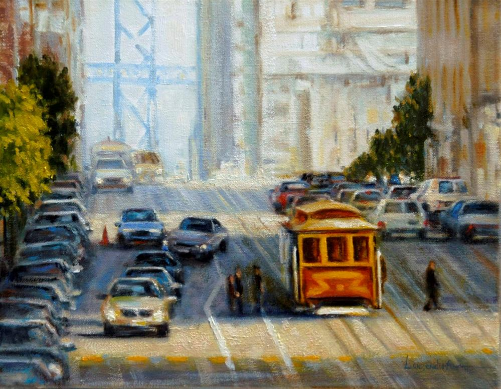 """BAY BRIDGE VIEW"" original fine art by Dj Lanzendorfer"
