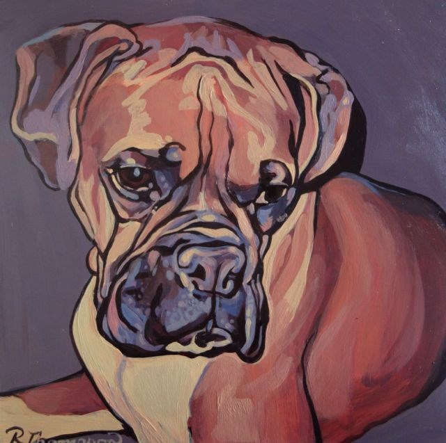 """Sammy - Reserved"" original fine art by Rachel Thompson"