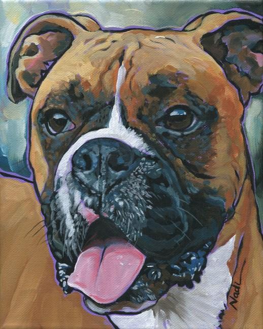 """Boxer"" original fine art by Nadi Spencer"