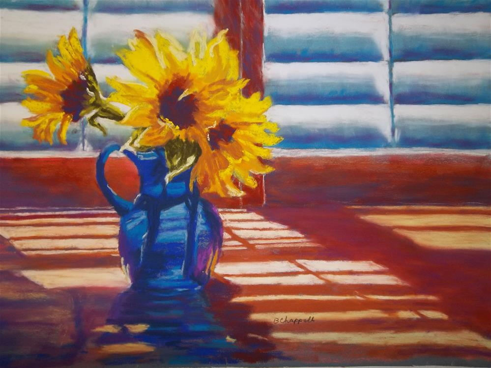 """Sunflowers Backlight"" original fine art by Becky Chappell"