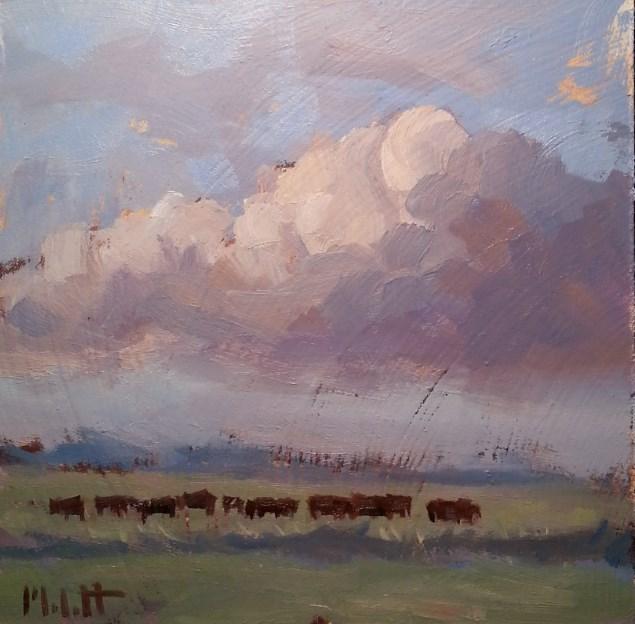 """Cows in the Heartland"" original fine art by Heidi Malott"