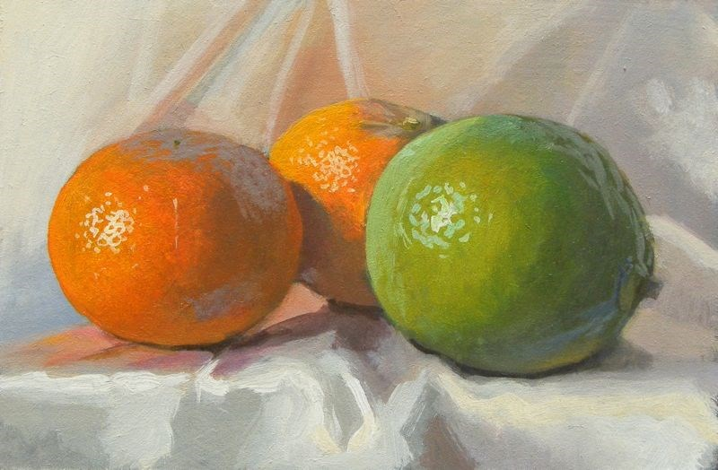 """Citrus study"" original fine art by Peter Orrock"
