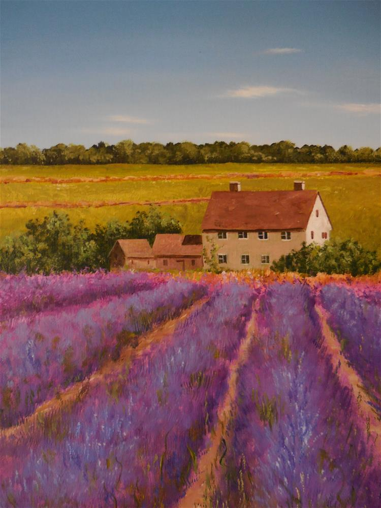 """French Countryside"" original fine art by Terri Nicholson"