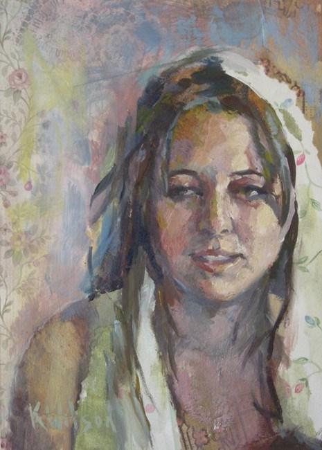 """""""White  Scarf"""" original fine art by Katie Wilson"""