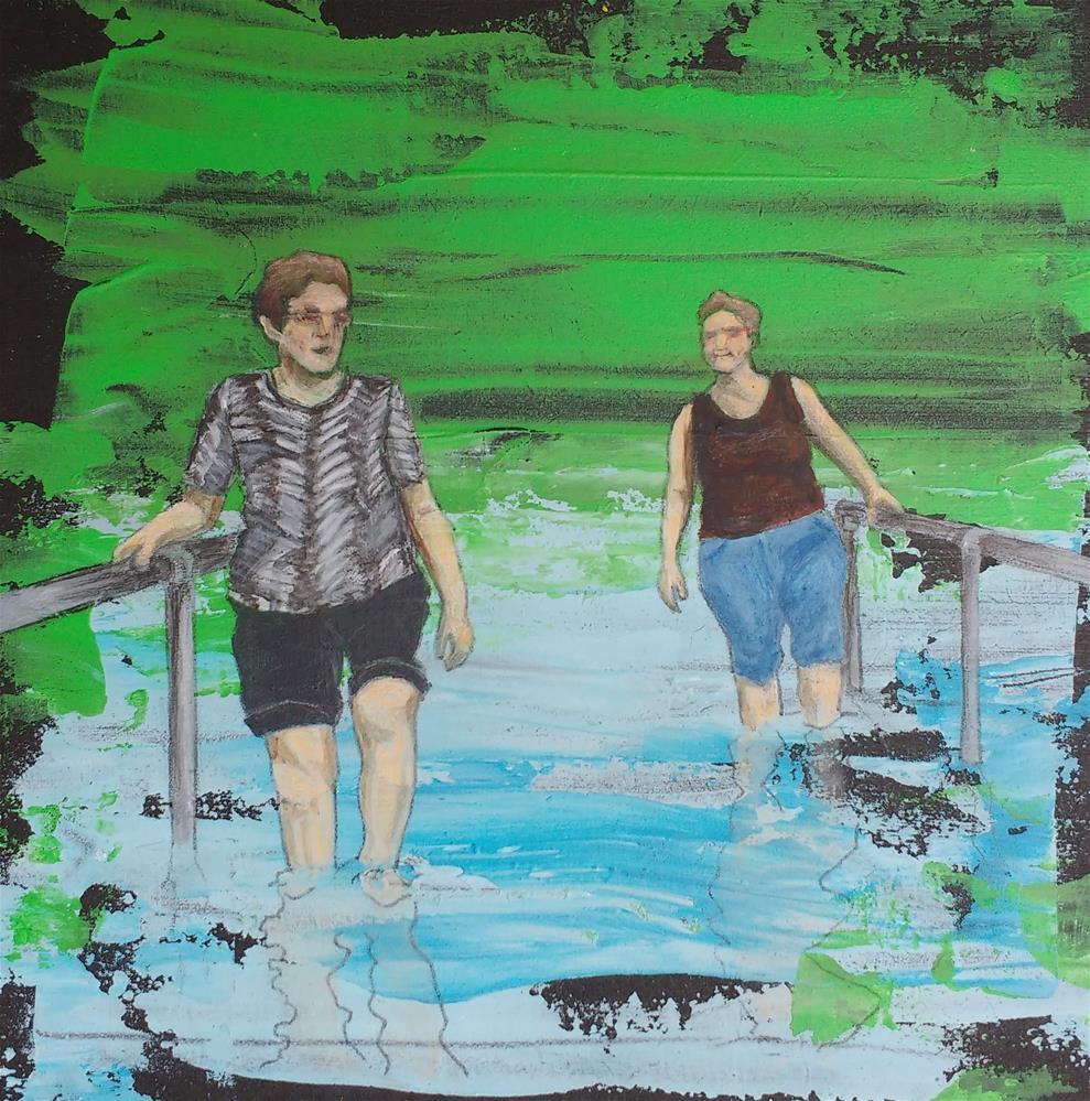 """refreshment"" original fine art by Sandra Woerner"