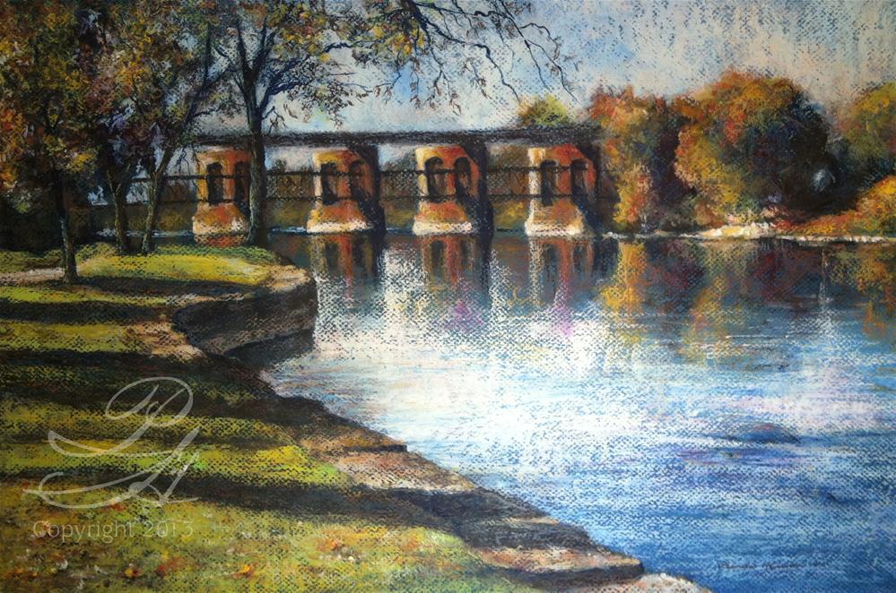 """Along Island Park"" original fine art by Pamela Hamilton"