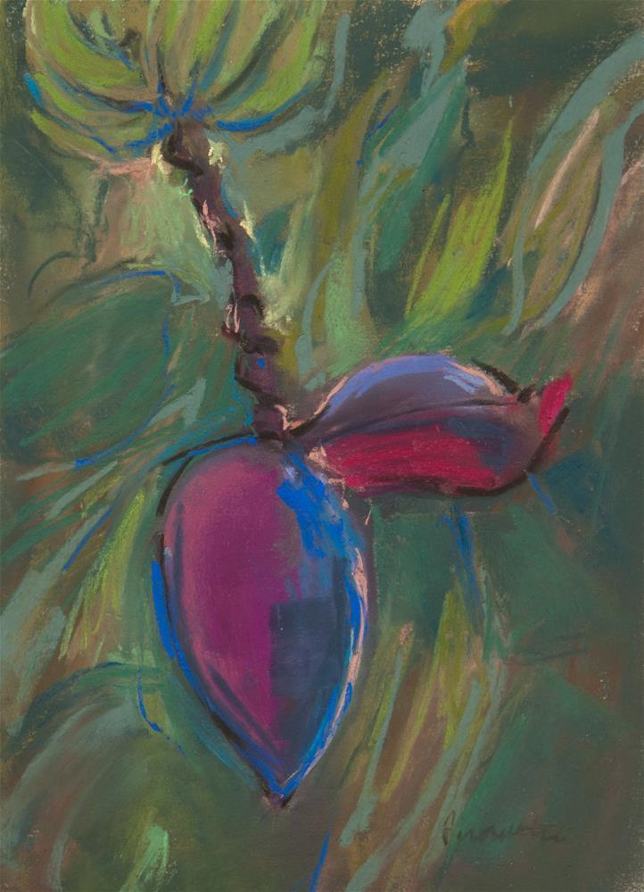 """""""Banana Blossom"""" original fine art by Sarah Peroutka"""