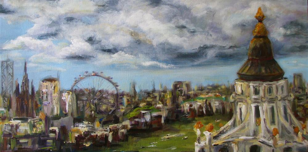"""""""London View"""" original fine art by Alina Vidulescu"""