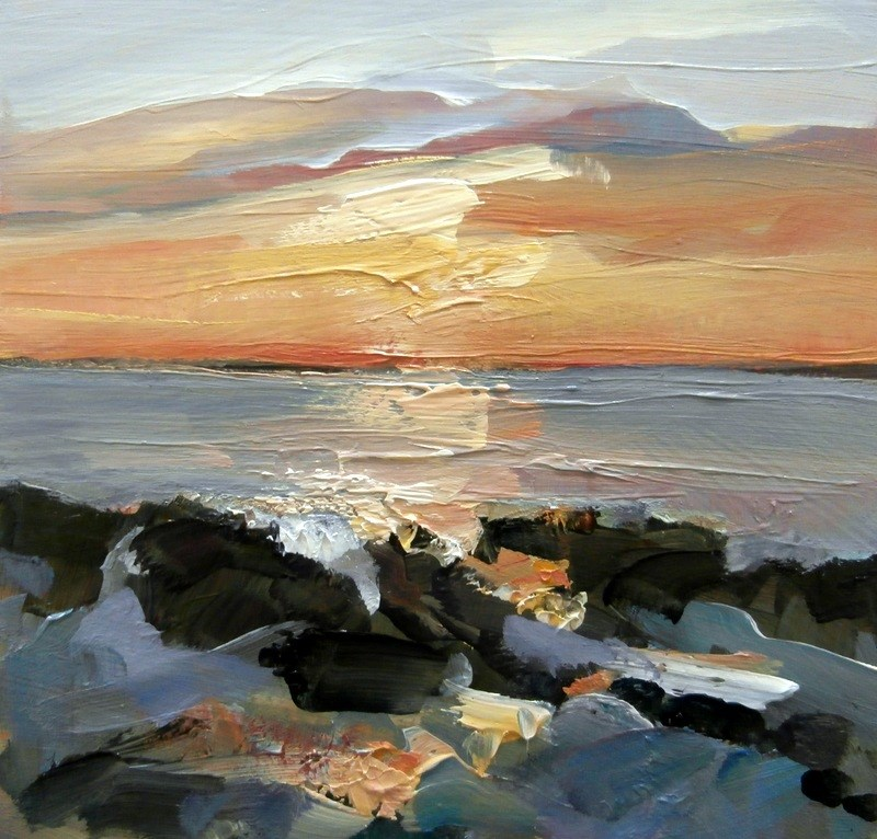 """""""Before Sunset"""" original fine art by Anne Wood"""