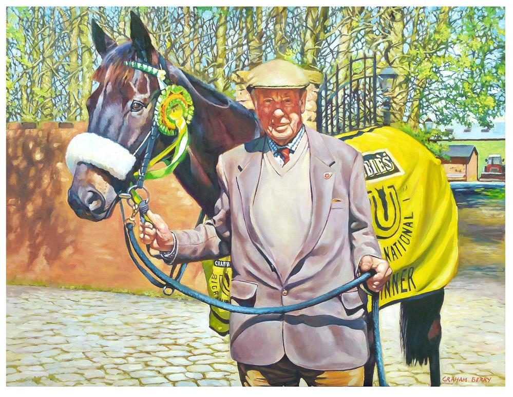 """Trevor Hemmings with 'Many Clouds'."" original fine art by Graham Berry"