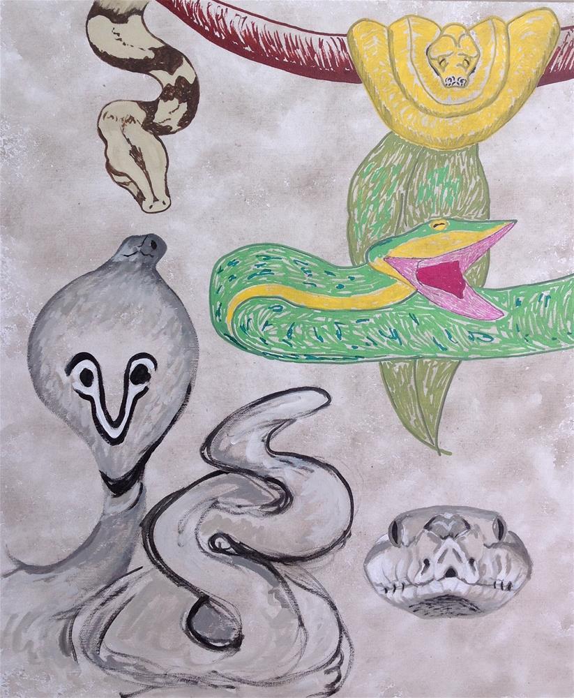 """""""Verify Your Venom"""" original fine art by Rachel  Holland"""