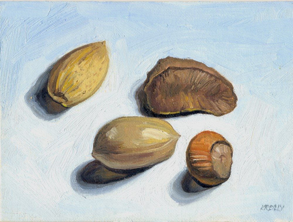 """Nuts"" original fine art by Kath Reilly"