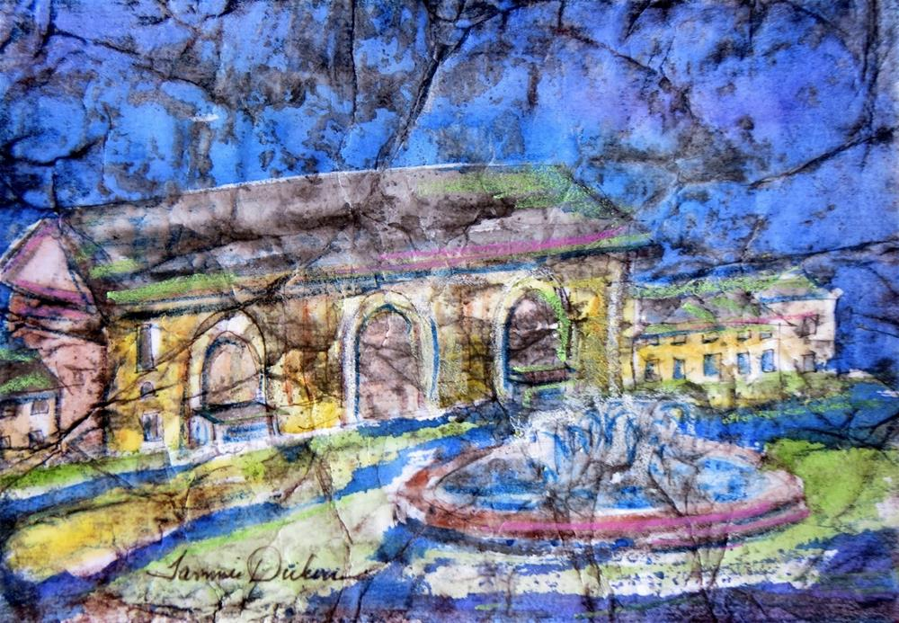 """Union Station in Batik"" original fine art by Tammie Dickerson"