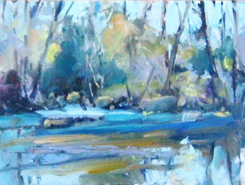 """Calm Water"" original fine art by Connie Snipes"