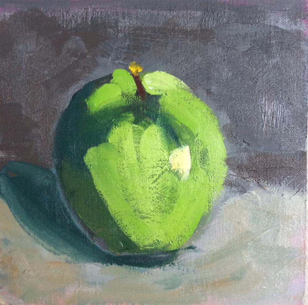 """Apple Study"" original fine art by Patty Barnes"