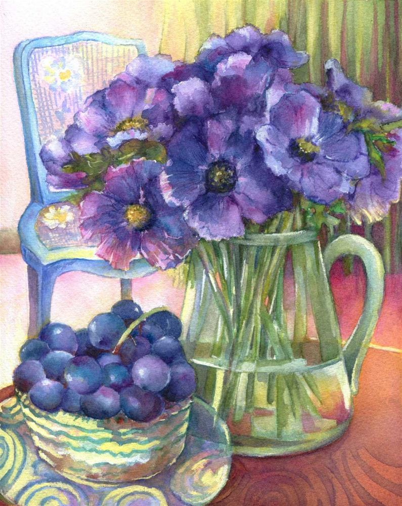 """Purple harmony"" original fine art by Olga Touboltseva-Lefort"