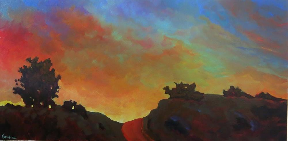 """NEW MEXICO SUNSET"" original fine art by Dee Sanchez"