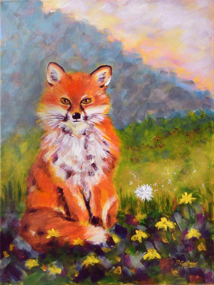 """""""Fox Run"""" original fine art by Pamela Gatens"""