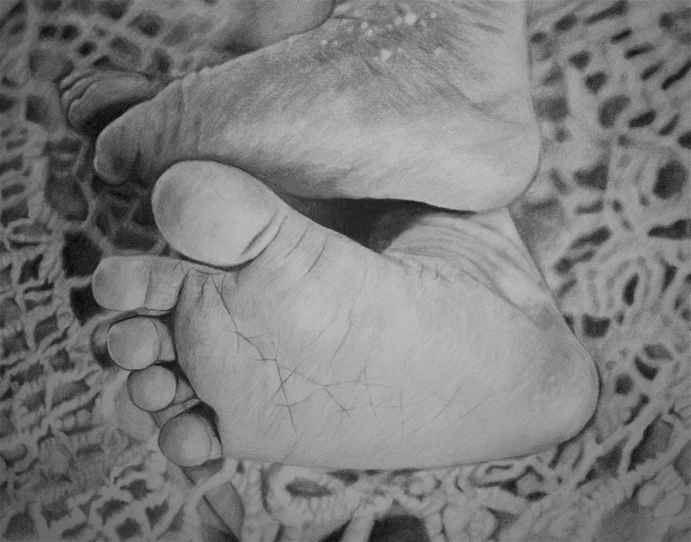 """Baby Feet"" original fine art by Sam Supkow"