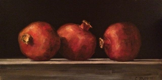 """Pomegranates"" original fine art by Christina Dowdy"