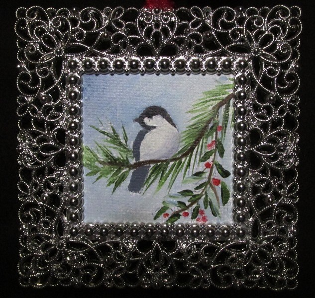"""Little Chickadee"" original fine art by Ruth Stewart"