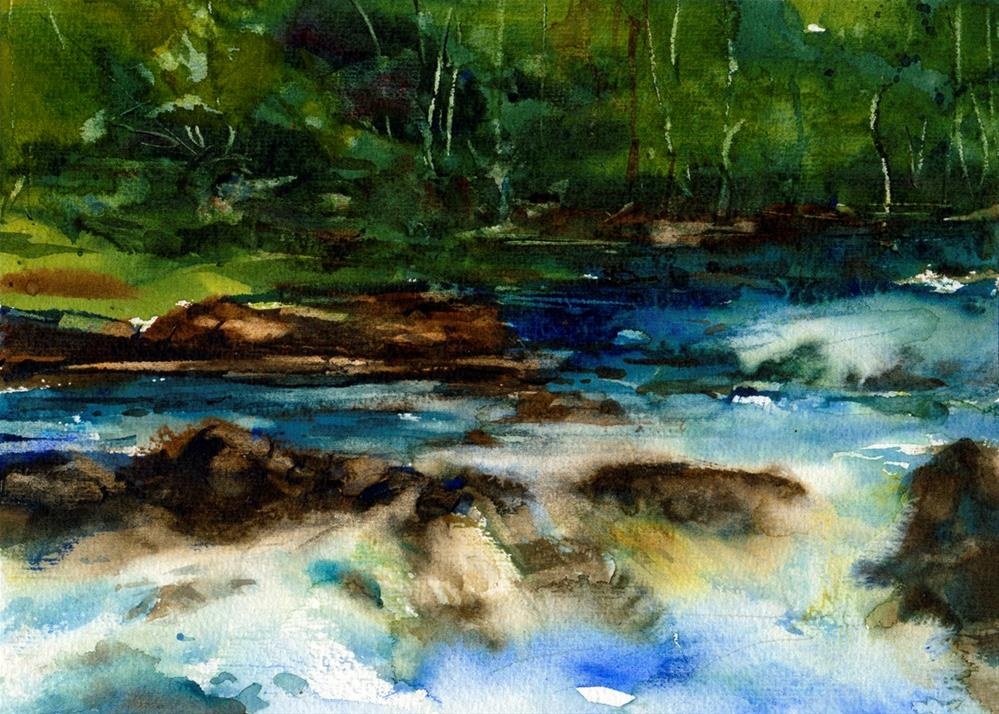 """The Green Woods"" original fine art by Linda Henry"
