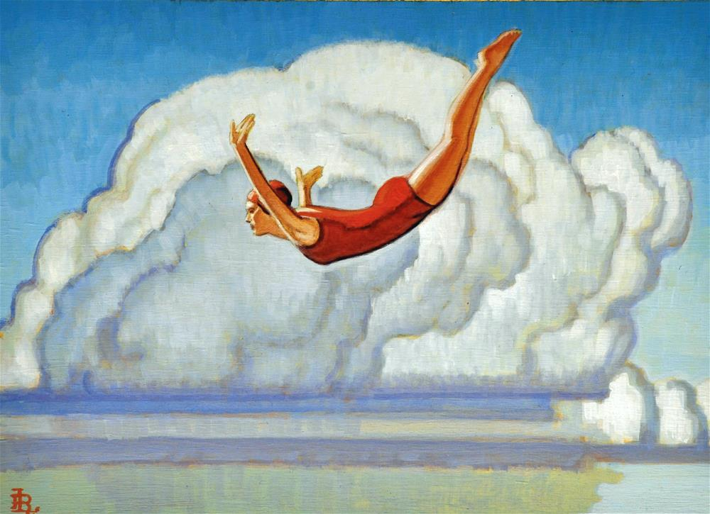"""Swan"" original fine art by Robert LaDuke"