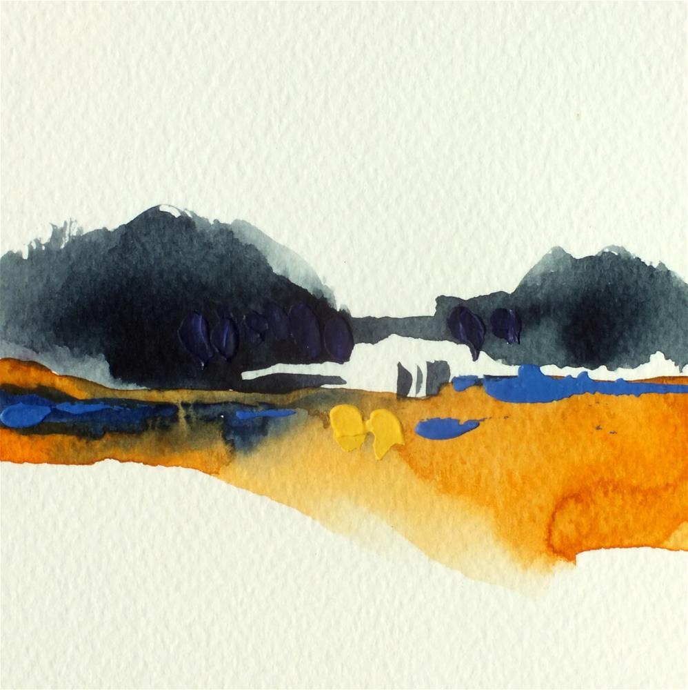 """Landscape 351"" original fine art by Ewa Kunicka"
