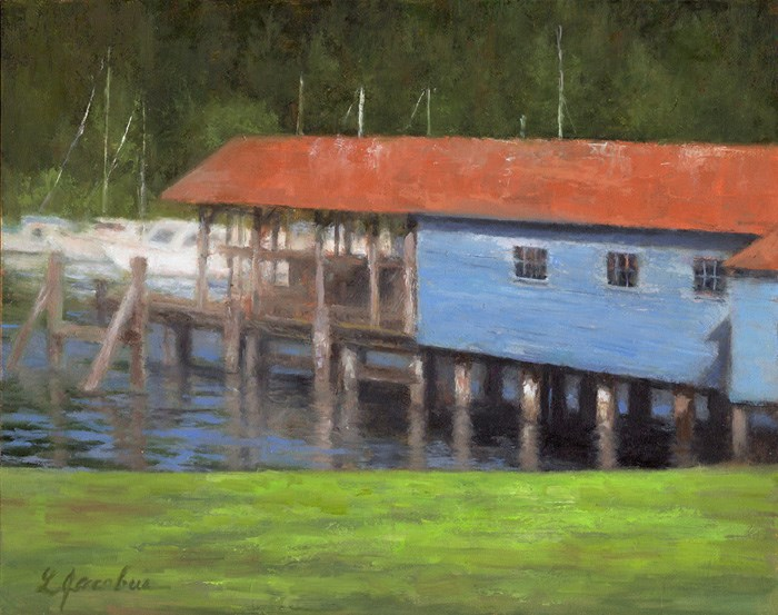 """Gig Harbor, WA"" original fine art by Linda Jacobus"