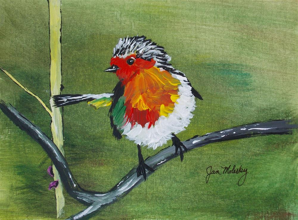 """Robin Fledgling III"" original fine art by Jan Molesky"