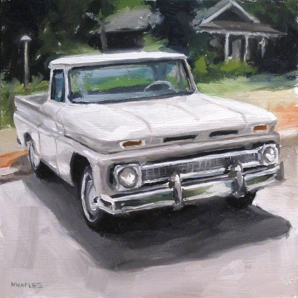 """Old Chevy Pickup"" original fine art by Michael Naples"