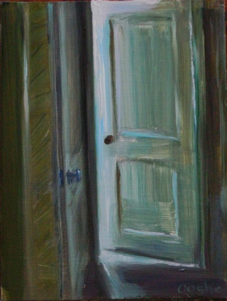 """Door in Hallway"" original fine art by Angela Ooghe"