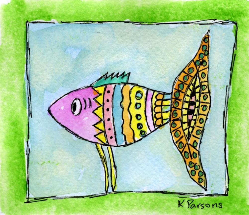 """A Fishy Tale"" original fine art by Kali Parsons"
