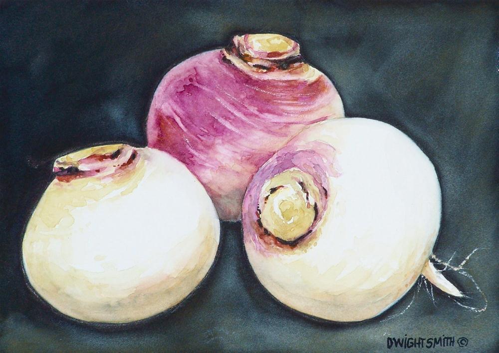 """ TRIO OF TURNIPS "" original fine art by Dwight Smith"