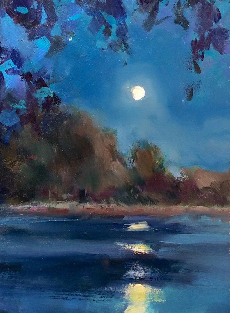 """BLUE MOON"" original fine art by Doug Carter"