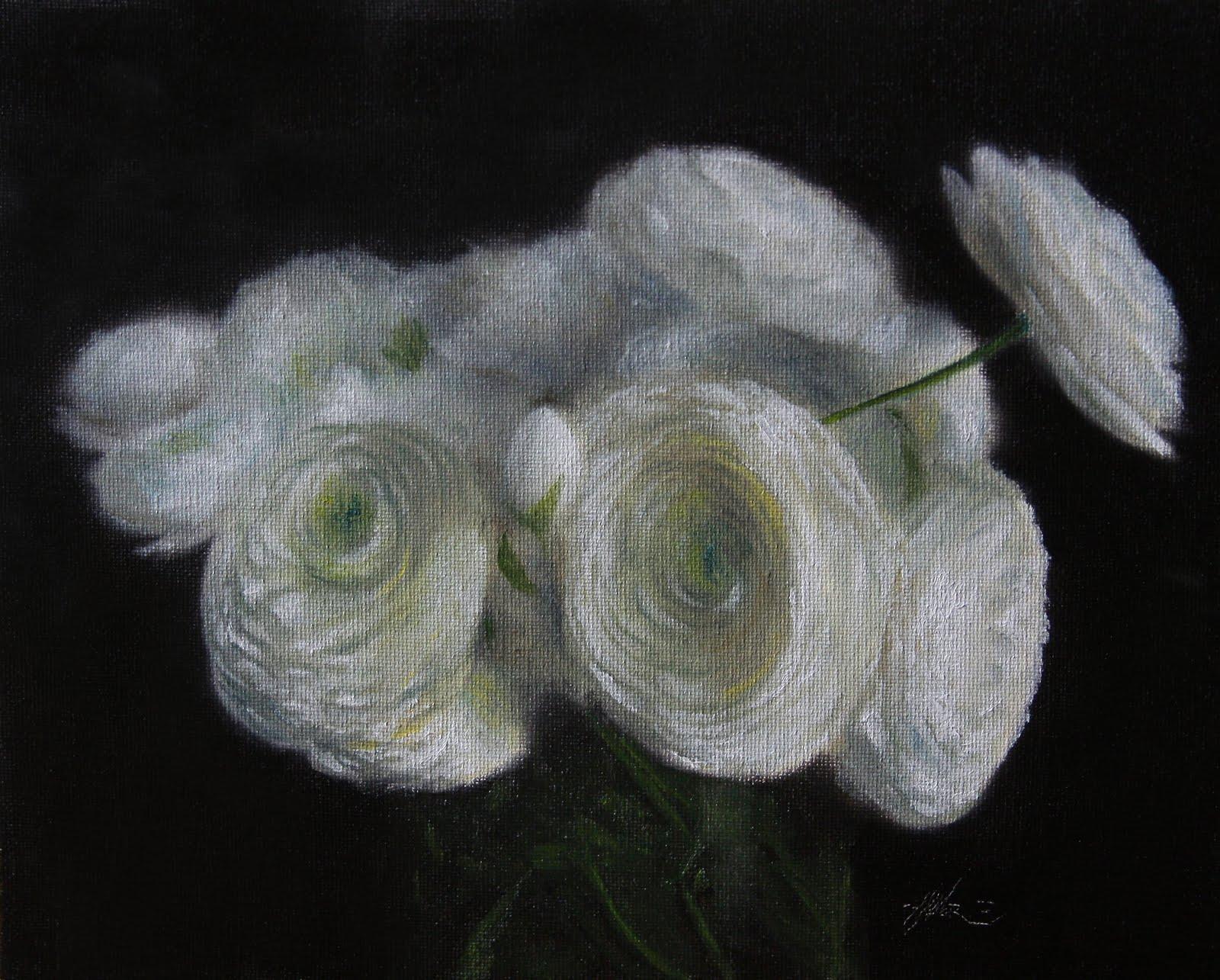 """Peonies Bianca"" original fine art by Jonathan Aller"