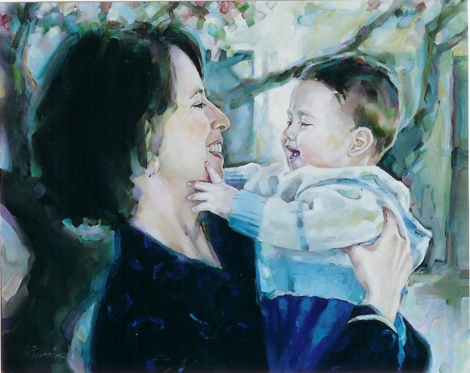 """Anna and Ryan"" original fine art by Jeannette Fromm"