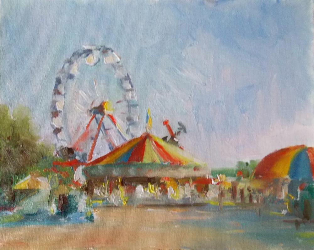 """ Summer Circus Time "" original fine art by Doug Carter"