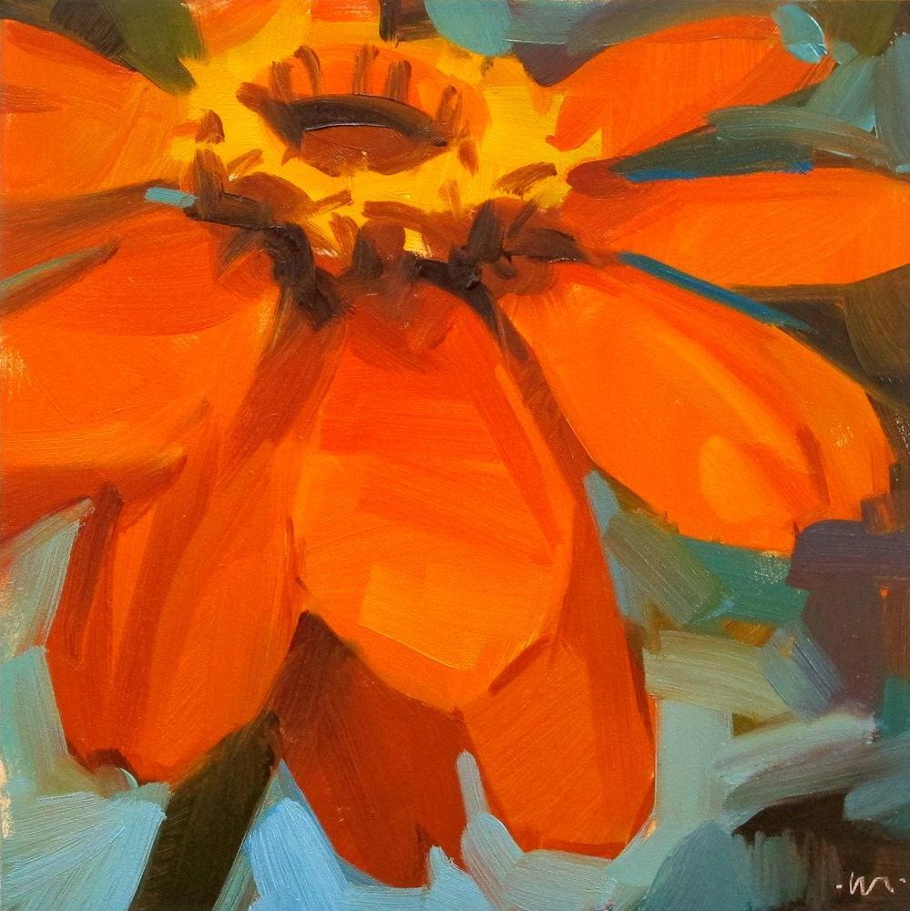 """Happy Orange"" original fine art by Carol Marine"