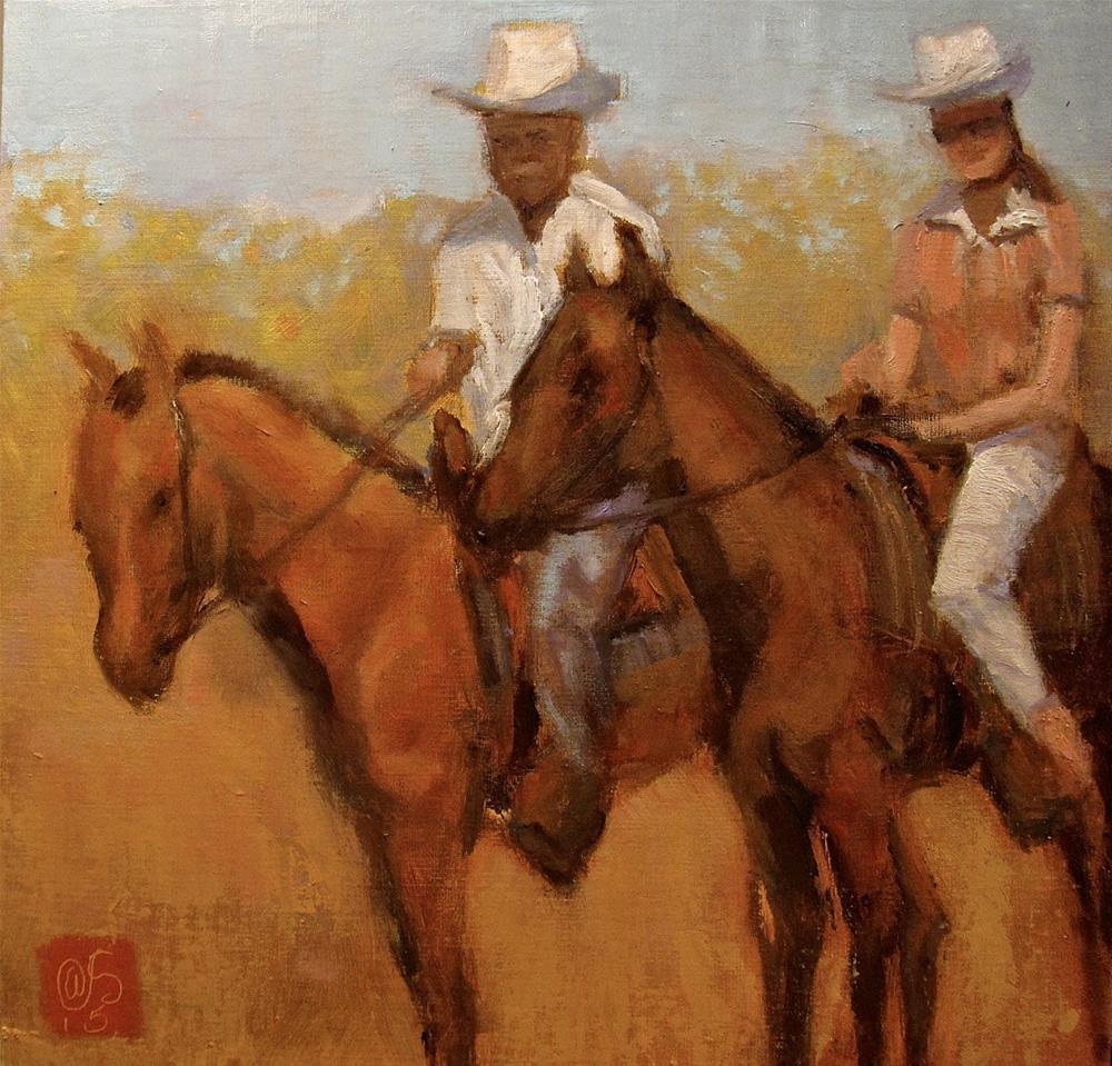 """""""La Entrada"""" original fine art by Aurelio Saiz"""