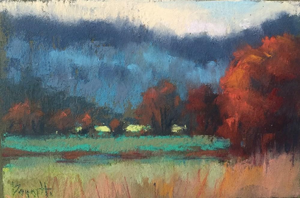 """Rust & Blue"" original fine art by Marla Baggetta"