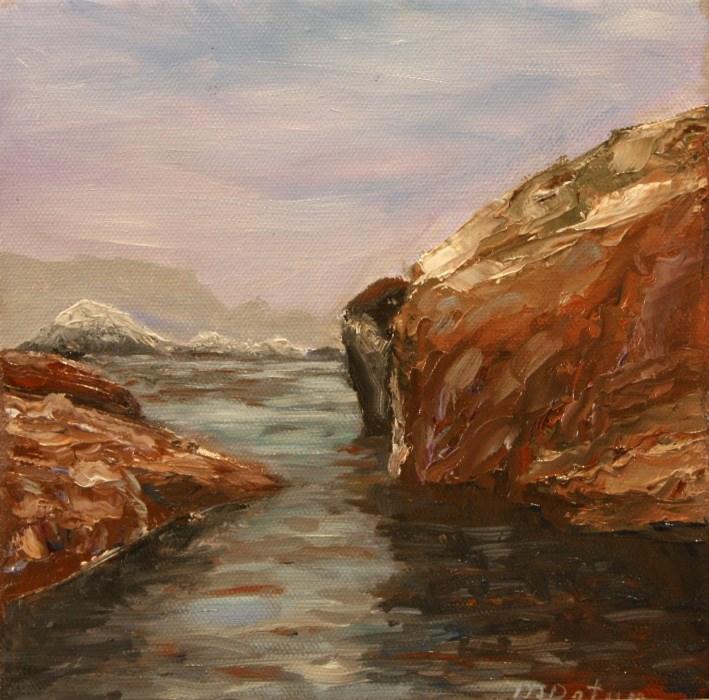"""View of Bird Islands - Point Lobos"" original fine art by Mary Datum"