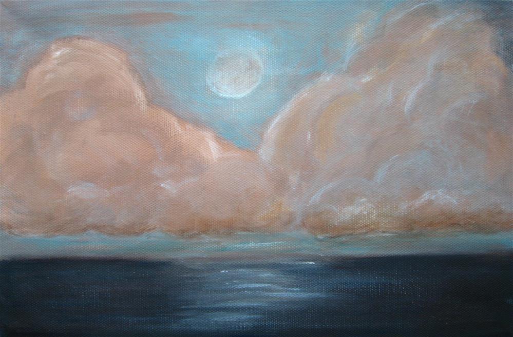 """Pink Clouds"" original fine art by Alina Frent"