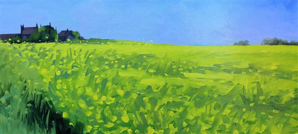 """""""The Air Smells Sweet on Hungry Hill"""" original fine art by Tanya Pawsey"""
