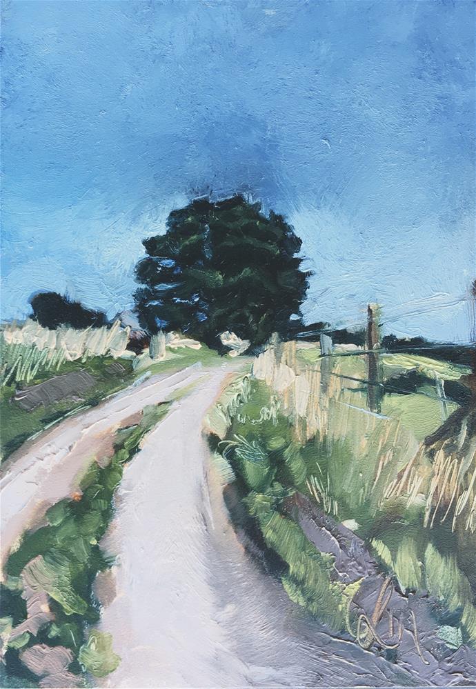 """Long and Winding"" original fine art by Leslie Miller"