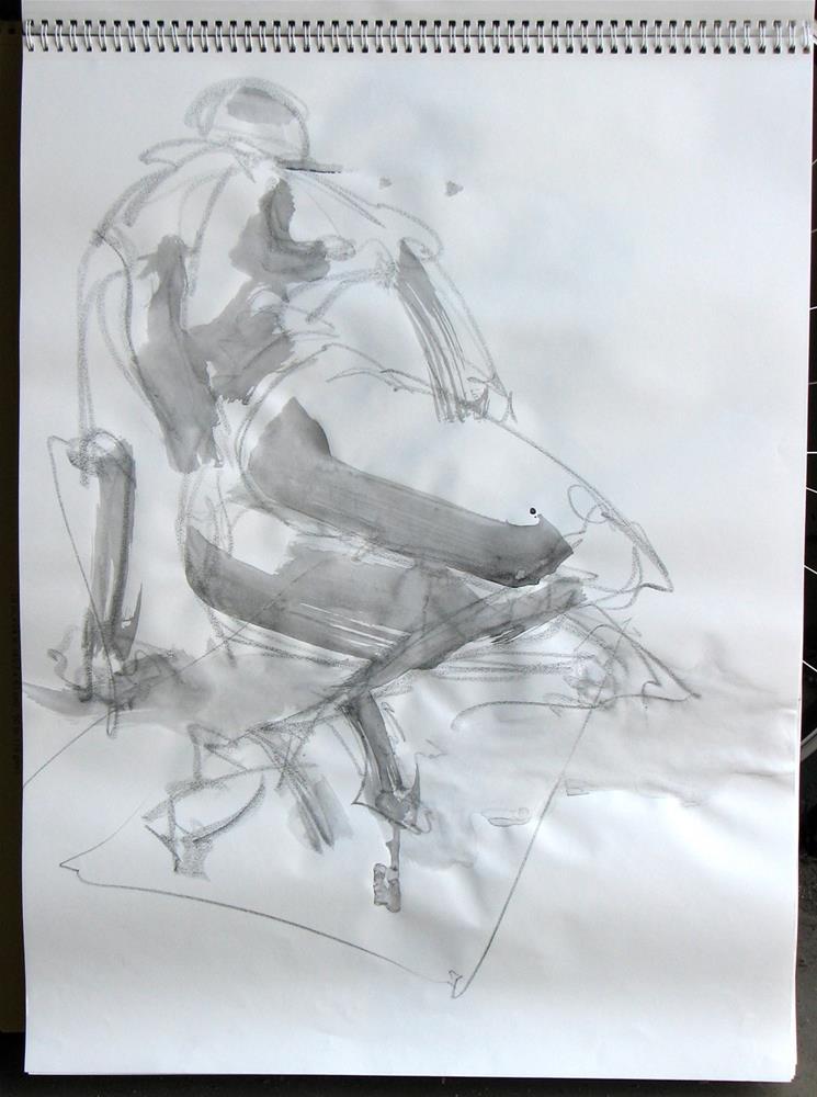 """gesture 4"" original fine art by jeffrey kasbohm"