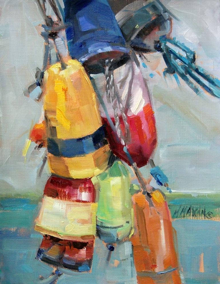 """Bouy Bouquet"" original fine art by Mary Maxam"