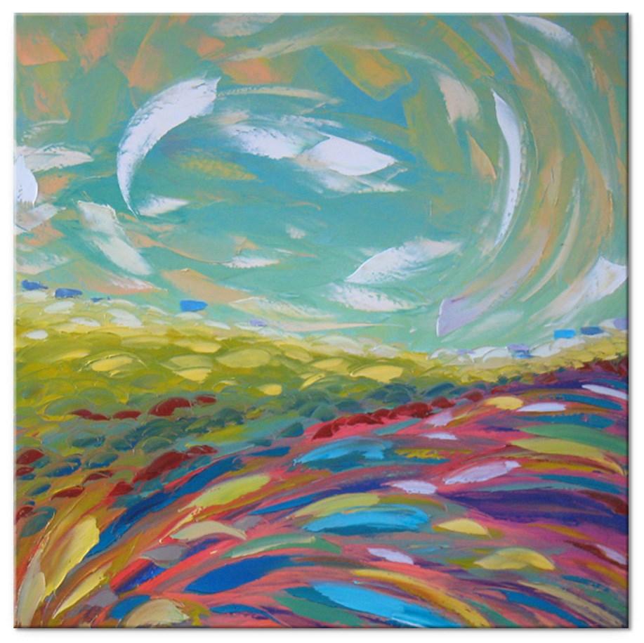 """Purple valley"" original fine art by Elena Lunetskaya"
