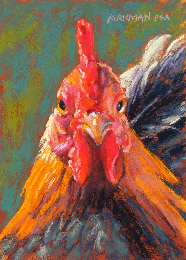 """""""Big Red"""" original fine art by Rita Kirkman"""